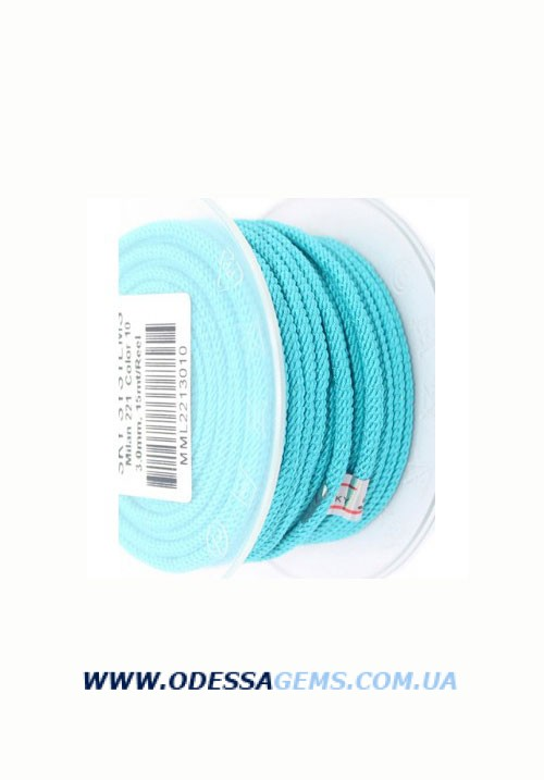 Купить Шелковый шнур Милан 221 3.0 мм Цвет: Голубой