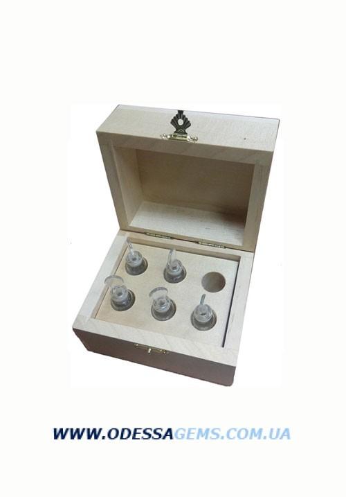 Набор флаконов для кислот (5мл – 5шт) в деревянной шкатулке