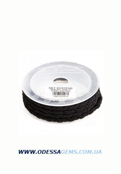 Купить Шелковый шнур Милан 222 5.0 мм, Цвет: Черный