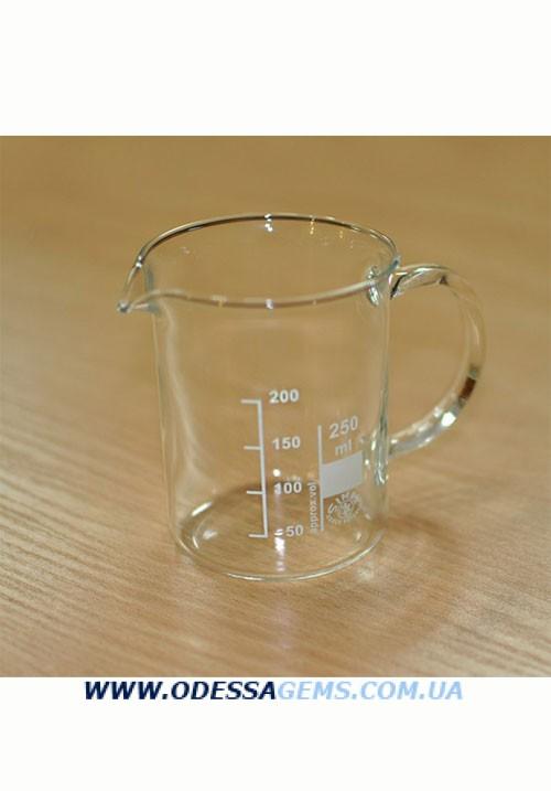 Термостойкий стакан с ручкой для подогрева отбела на 250 мл