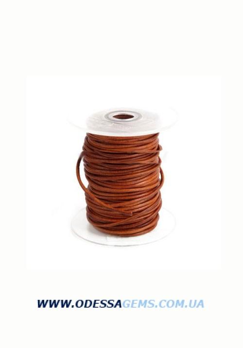 Купить 2,5 мм Кожаный шнурок Цвет: Коричневый (Антик)