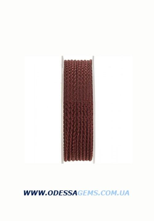 Купить Шелковый шнур Милан 2016 3.0 мм, Цвет: Коричневый