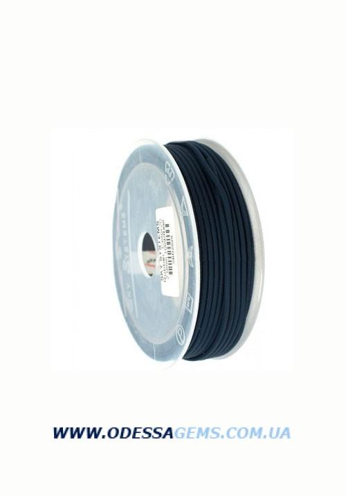 2,5 мм, Каучуковый шнур Черный (Италия)