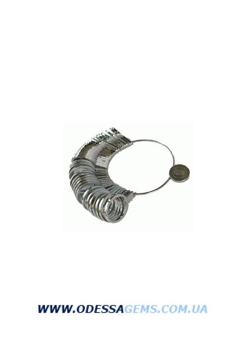 Пальцемер металлический  шкала размеров: 13-25 мм, через 0,5 мм