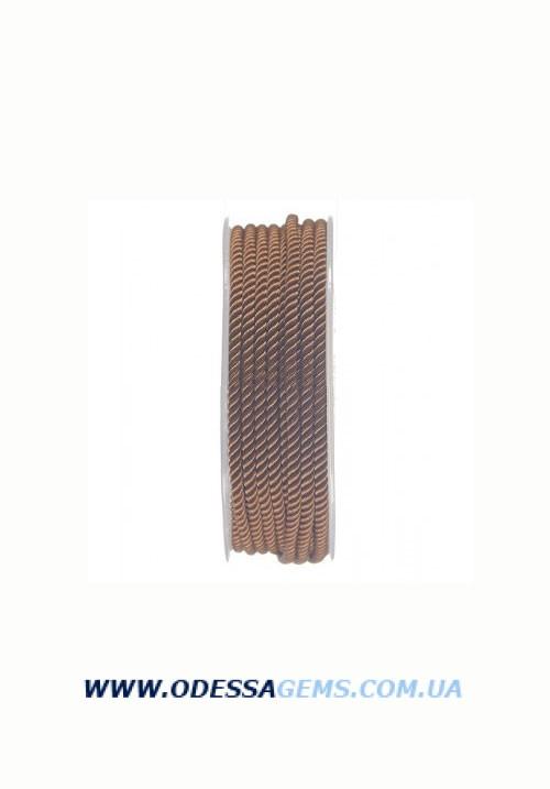 Купить Шелковый шнур Милан 226 3.0 мм, Цвет: Коричневый 3