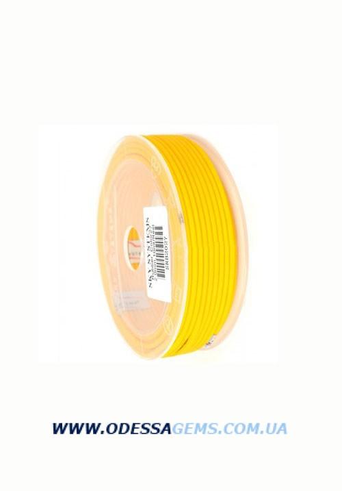 Купить 2,5 мм, Каучуковый шнур Желтый (Италия)