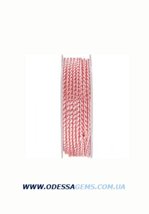 Купить Шелковый шнур Милан 2016 2.5 мм, Цвет: Розовый 12