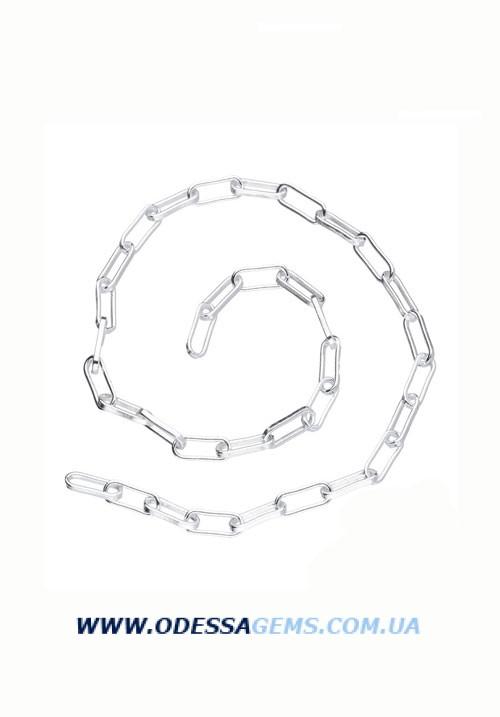 Цепь Рол вытянутый 2.4 х 6.3 см серебро