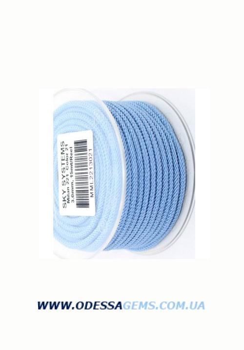 Купить Шелковый шнур Милан 221 3.0 мм Цвет: Голубой 2
