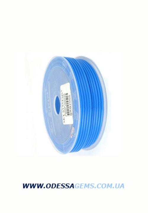 Купить 2,5 мм, Каучуковый шнур Синий (Италия)