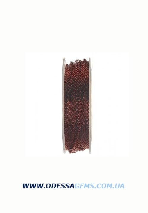 Купить Шелковый шнур Милан 301 2.0 мм Цвет: Терракот