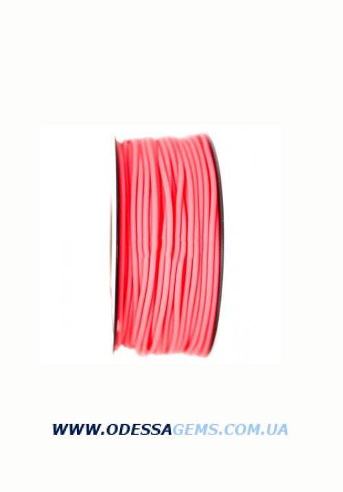 Купить 3,0 мм, Каучуковый шнур 2 Розовый (Италия)