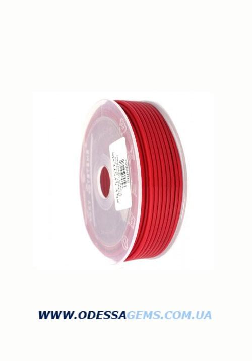 Купить 3,0 мм, Каучуковый шнур Красный (Италия)