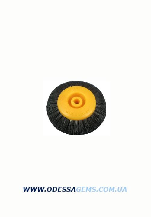 Щетка волосяная  UTG жесткая 4-х рядная, d-75 мм  на пластмассовом диске