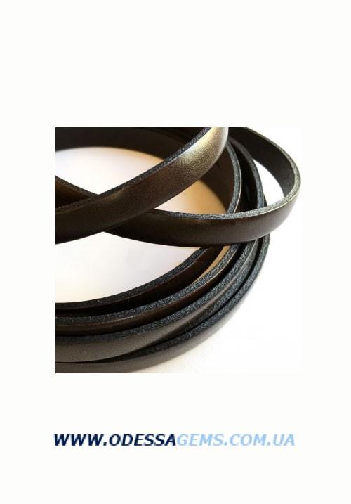 Купить Плоский кожаный шнур 8,0 x 2,0 мм, Коричневый (Испания)