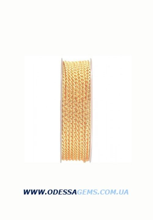 Купить Шелковый шнур Милан 2016 3.0 мм, Цвет: Золотой
