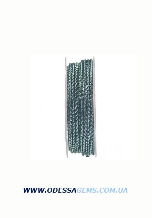 Купить Шелковый шнур Милан 2016 3.0 мм, Цвет: Зеленый