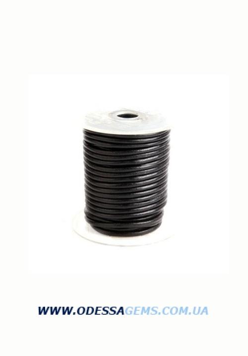 4,0 мм Кожаный шнурок Цвет: Черный (Индия)