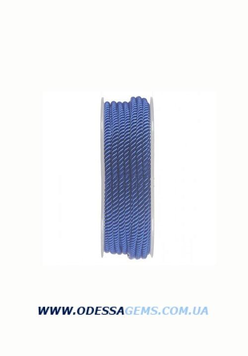 Купить Шелковый шнур Милан 226 3.0 мм, Цвет: Синий 2