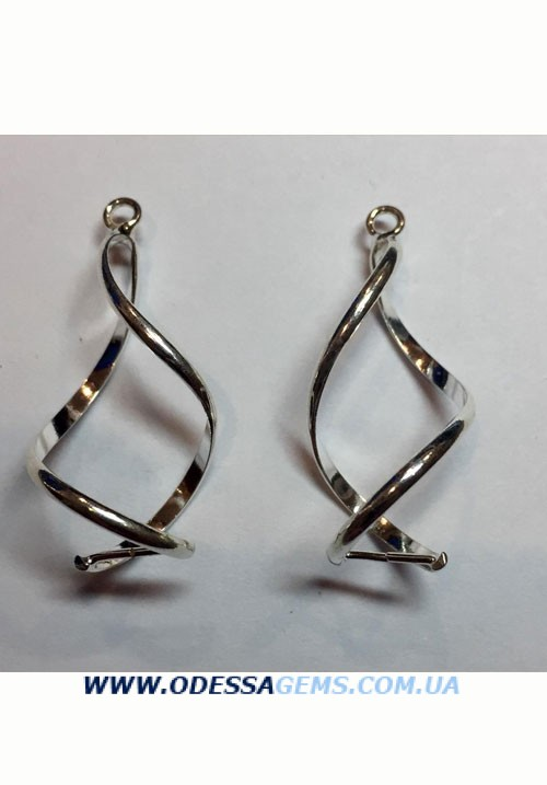 Серебряные подвески на серьги №2 925 проба