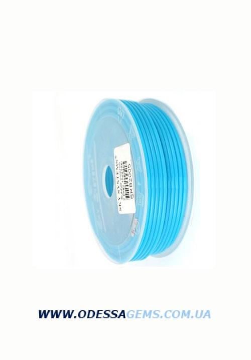2,5 мм, Каучуковый шнур Голубой (Италия)