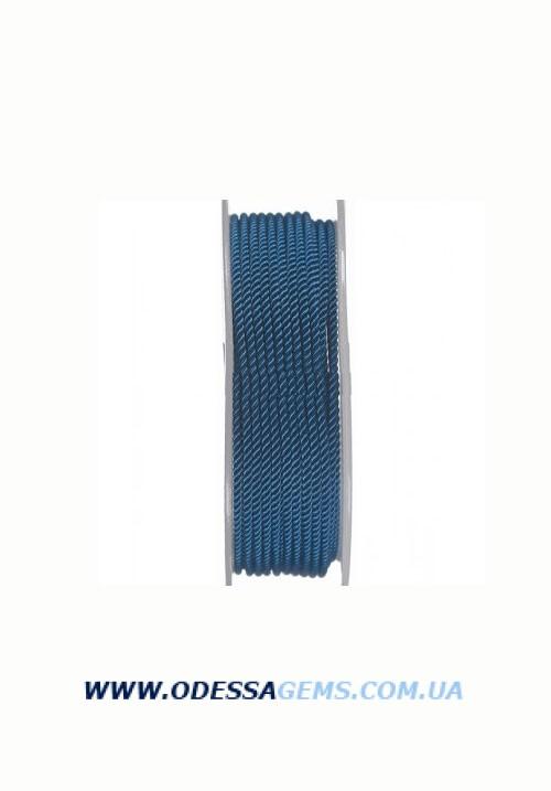 Купить Шелковый шнур Милан 226 2.0 мм, Цвет: Синий