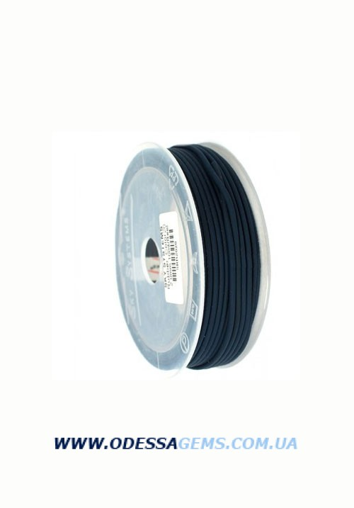 Купить 5,0 мм, Каучуковый шнур Черный (Италия)