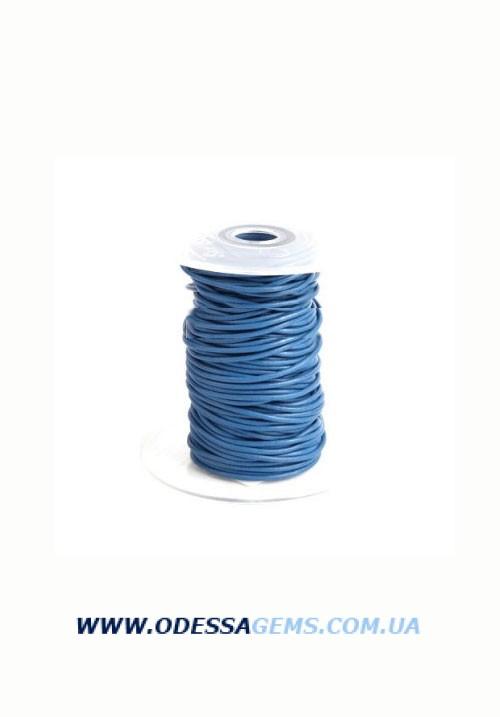 Купить 3,0 мм Кожаный шнурок Цвет: Синий