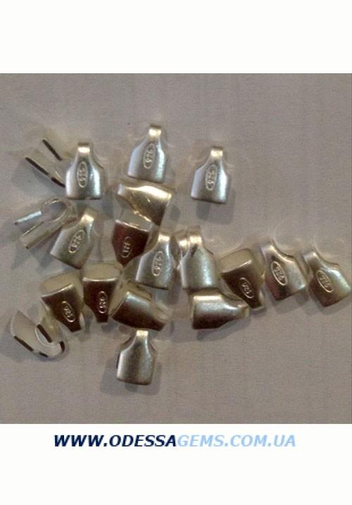 Концевики 3 мм. Серебро. Цена за пару