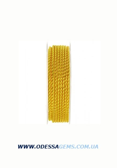 Купить Шелковый шнур Милан 2016 3.0 мм, Цвет: Желтый