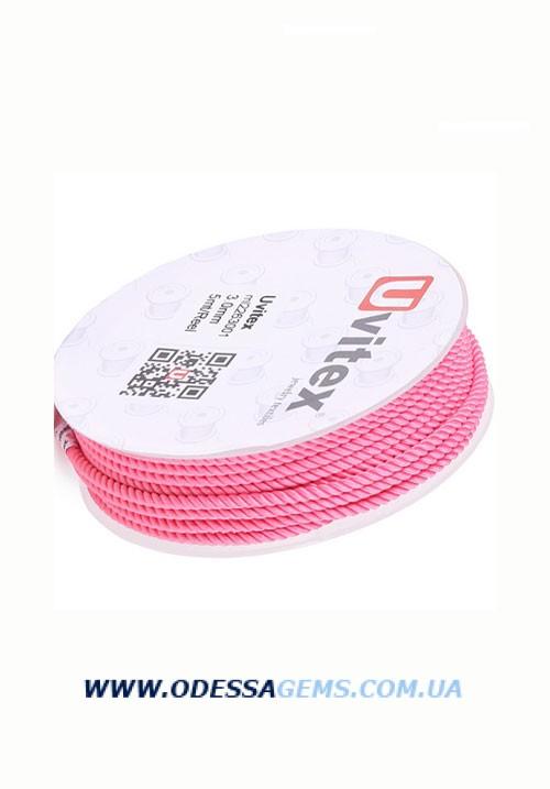 Шелковый шнур Милан 226 1.5 мм, Цвет: Розовый