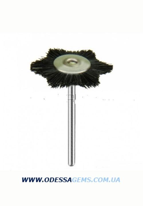Щетка фигурная волосяная средняя серая н/д, натур. волос, d-22 мм