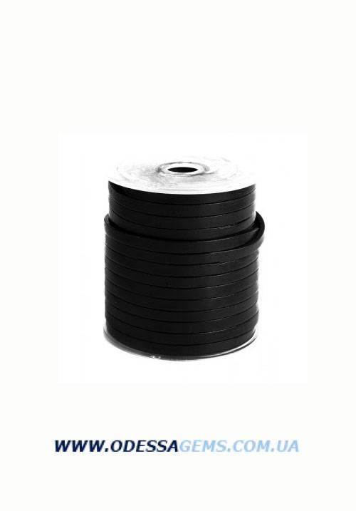 Купить Плоский кожаный шнур 10,0 x 2,0 мм, Черный